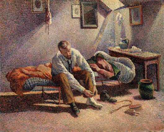 Morning,Interior by Maximilien Luce