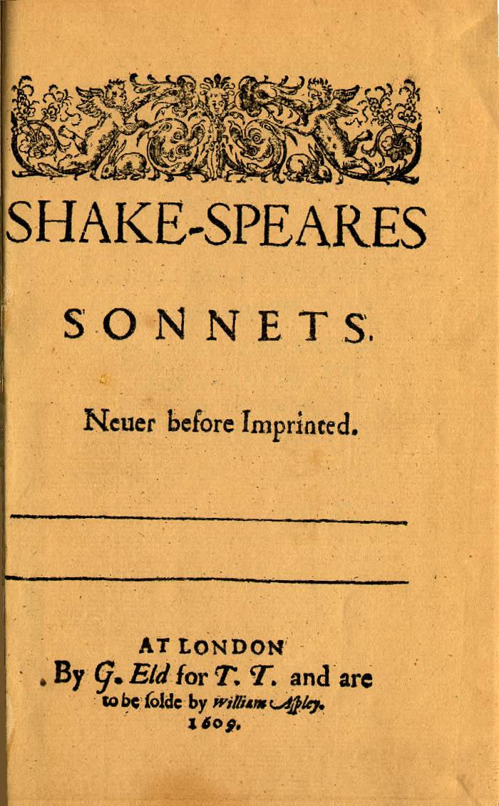 the william shakespeare sonnets Shakespeare's sonnets appeared to tell a story - of his anguished private life so who were the fair youth, the dark lady and mr wh william boyd on the bard's love.