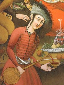 'Persian Woman Pouring Wine' (17th Cent) from Chehel Sotoun Palace, Iran