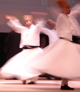 Whirling dervishes at a Rumi Festival
