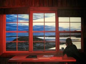 """David's Studio, Sunset"" (2011), oil on canvas, by Heather Horton."