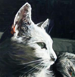 """""""Sasha, Sun"""" (2012), oil on panel, by Heather Horton"""