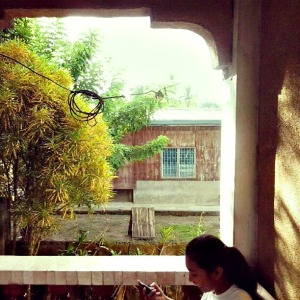 Kelvin's youngest sister at the veranda - Quezon Province (too shy at camera)