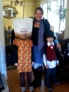 Jane and daughter (the roasting marshmallow) & son (the magician)