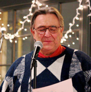 Glenn doing some Open Mic poetry reading in Tacoma, WA recently
