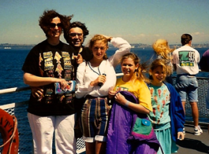 """A family snapshot like 15 years ago at Lake Chelan."""