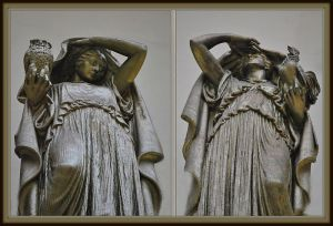 Statues of Night and Day at Chicago Union Station