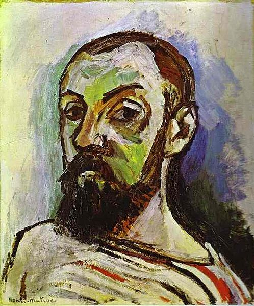 Henri Matisse Self Portrait in a Striped T-Shirt 1906 (public domain)