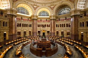 Main reading room at the  U.S. Library of Congress