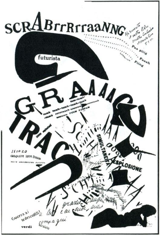 Scrabrrrrraang by F.T. Marinetti, 1919 (public domain)