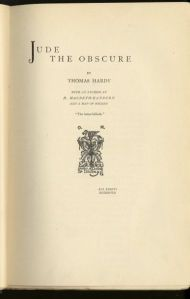 "Original title page of ""Jude the Obscure"" by Thomas Hardy (Osgood, McIlvaine & Co.) 1895."
