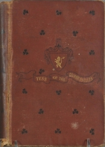 "Front cover of original edition of ""Tess of the d'Urbervilles"" by Thomas Hardy (Harper & Bros) 1891."