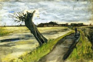 Pollard willow by Vincent van Gogh-