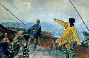 Leif Eriksson in his wave-stead (Cristian Kroigh)