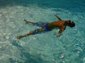 boy floating