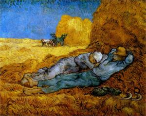 Rest Work (after Millet) by Vincent can Gogh