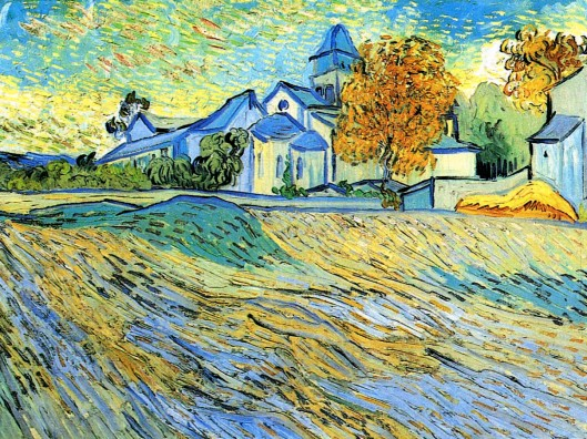 View of the church of Saint Paul de Mausole by Vincent van Gogh
