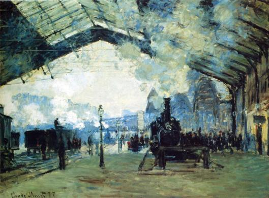 Saint-Lazare Gare, Normandy Train by Claude Monet
