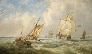 A Breezy Evening Off The Mouth Of The Mersey by John Wilson Carmichael