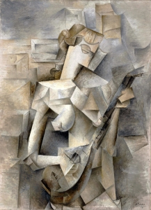 Pablo Picasso, 1910, Girl with a Mandolin (Fanny Tellier), oil on canvas, 100.3 x 73.6 cm, Museum of Modern Art, New York
