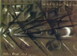 Speed of an automobile by Giacomo Balla