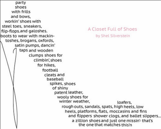 Funny Poems By Shel Silverstein: Poetics: A Closet Full Of Shoes